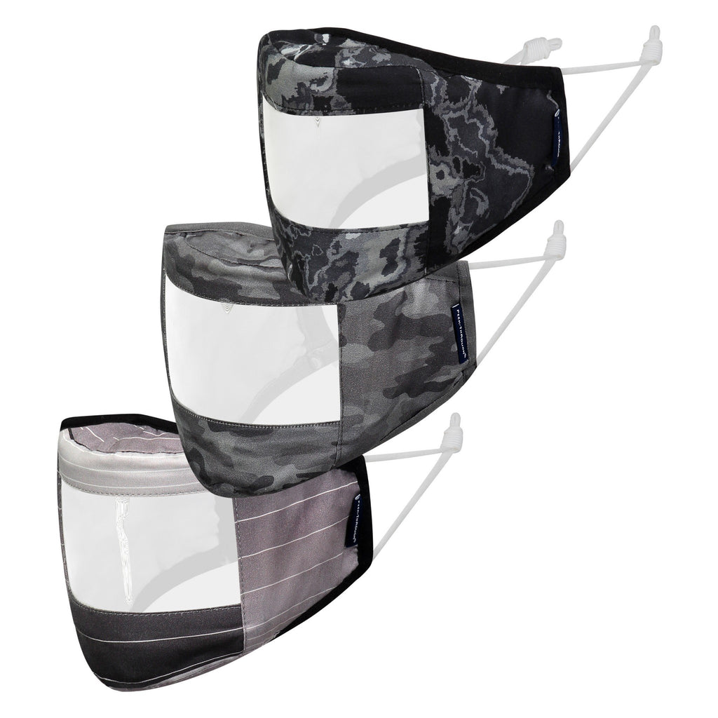 Peek-Through™ Masks 3-Pack (Adult Size) - Black Stripe - Andy & Evan