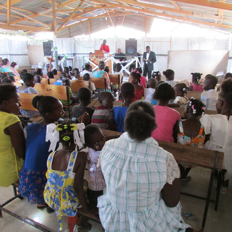 Church service in Haiti