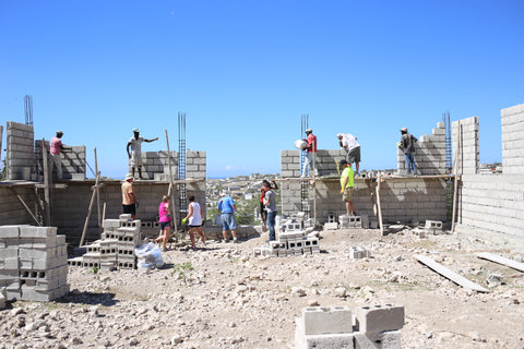 Work-site in Haiti