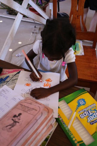 Coloring Pictures in Haiti