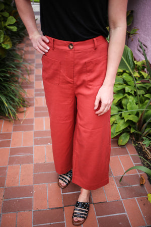 Terracotta High Waist Trouser