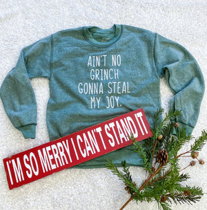 Green Grinch Long Sleeve Sweatshirt | Boutique Elise