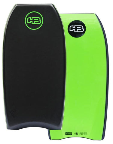 "HB Bodyboards 42"" Tech Epic PE Core - NEW Double Stringer Crescent Tail"