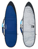 Hot Buttered 7'6 Epoxy Funboard Navy Gold Pinstripe (With Fins + Leash + Wax)