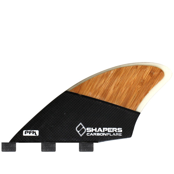SHAPERS Carbon Flare PFK Triple Tab Twin Keel Set (Free Shipping)
