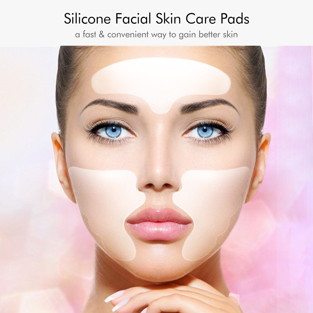 Facial Skin Care Pads Silicone Forehead & Smile Anti-Wrinkle Patches Overnight Smoothing Pads for Wrinkle Treatment Removal