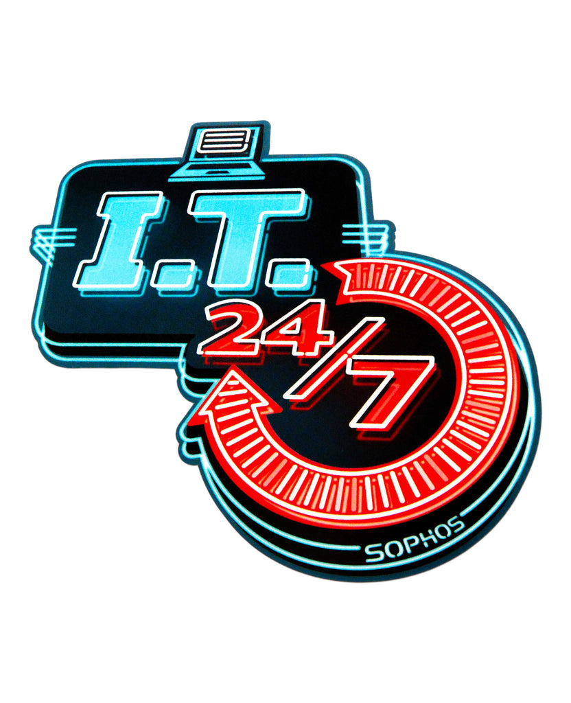 """I.T. 24/7"" Laptop Sticker"