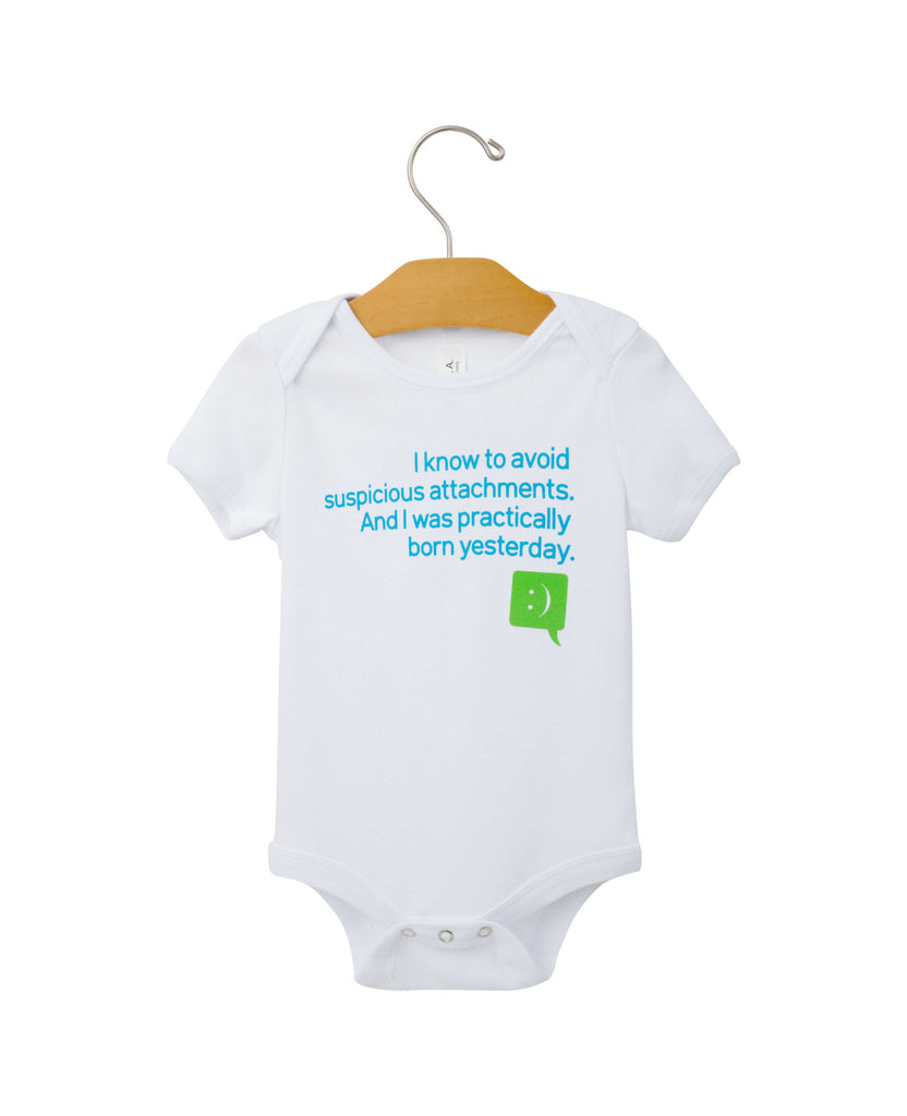 """Practically Born Yesterday"" Onesie"