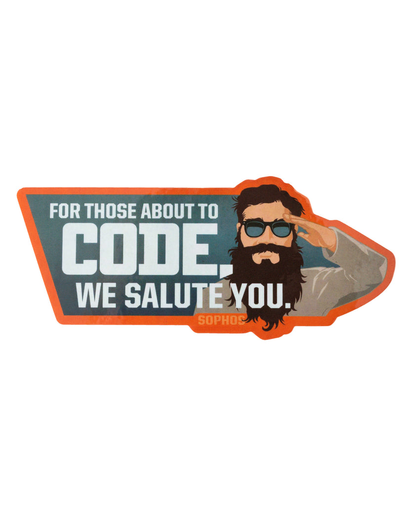 """For Those About to Code"" Laptop Sticker"