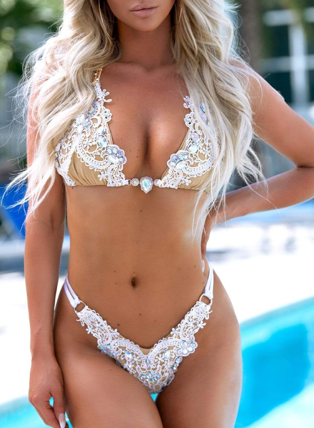 Bikini Crush Swim/Lingerie White / Top / S Prima Millionaire White New