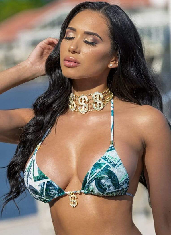 Dinero Neck Candy Choker - Bikini Crush Swimwear