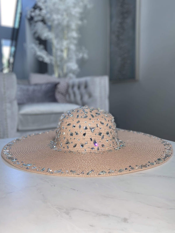 Bikini Crush Swimwear hat Blush Crystal / One Size / 5-7 days Fancy AF Hat