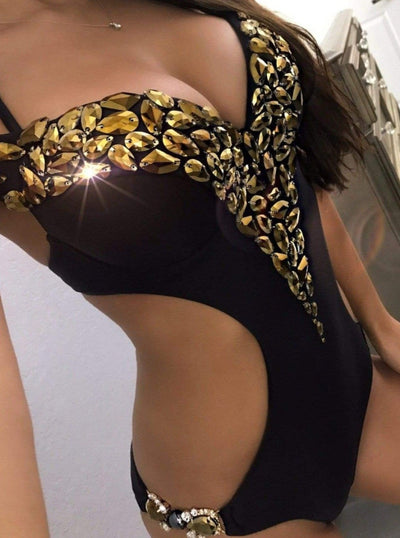 Black Label monokini Black/Gold / S Starlight Gold Quick Ship