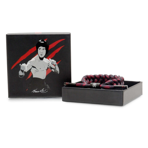 Rastaclat x Bait Bruce Lee Dragon Shoelace Bracelet, Red/Black