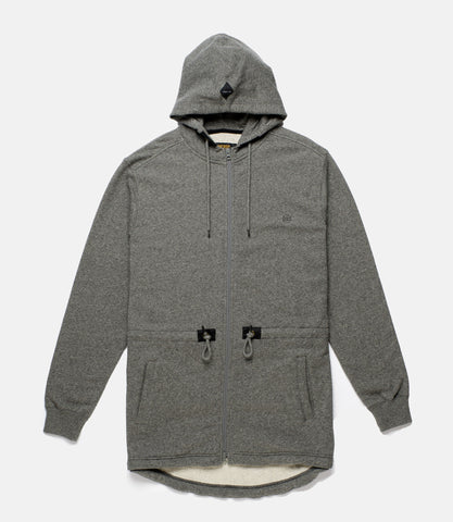10Deep - Scooptail Men's Fleece Parka, Grey Marl