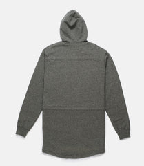 10Deep - Scooptail Men's Fleece Parka, Grey Marl - The Giant Peach - 2