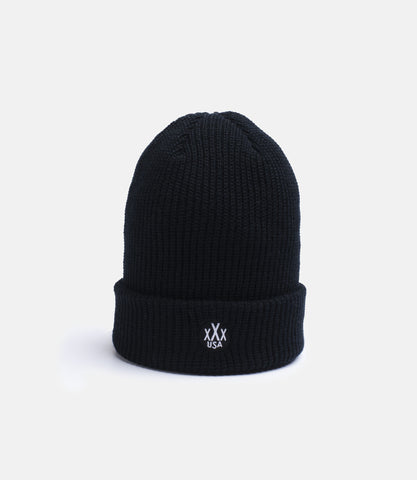 10Deep - Dot Logo Knit Beanie, Black - The Giant Peach - 1