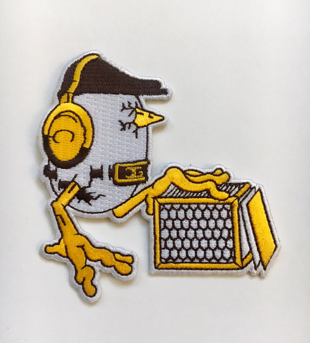 DJ Chicken George - Chicken Scratch Embroidered Patch