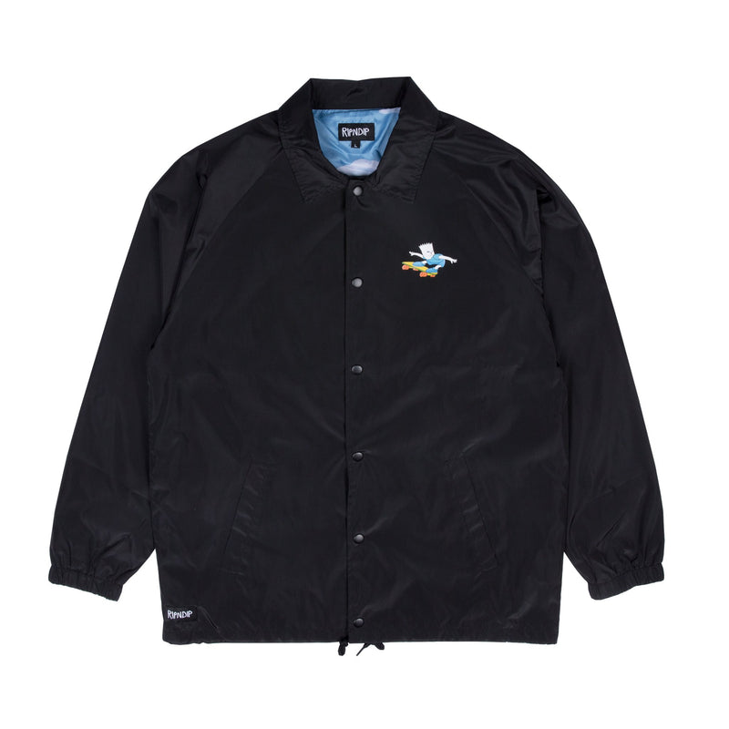 RIPNDIP - Catwabunga Men's Coaches Jacket, Black - The Giant Peach