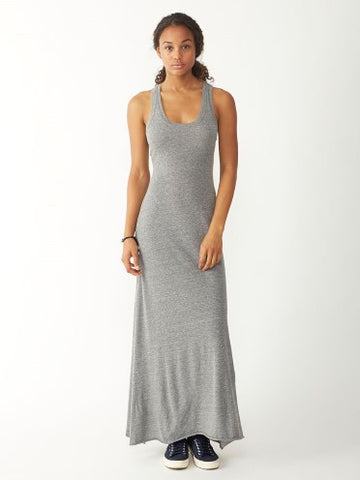 Alternative Apparel - Racerback Eco-Jersey Maxi Dress, Eco Grey