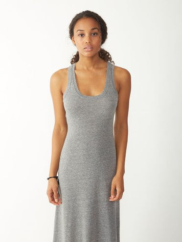 Alternative Apparel - Racerback Eco-Jersey Maxi Dress, Eco Grey - The Giant Peach - 4