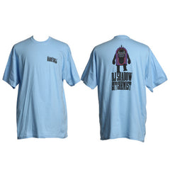 DJ Shadow - Hard Sell Stomping Juke-Bot Men's Shirt, Light Blue - The Giant Peach