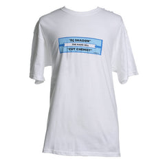 DJ Shadow - Hard Sell Juke Box Label Men's Shirt, White - The Giant Peach