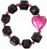 Tarina Tarantino Kiss Me Lucite Puff Heart Bracelet, Black - The Giant Peach