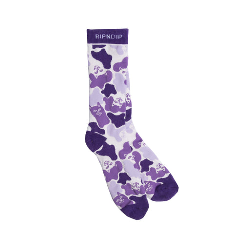 RIPNDIP - Invisible Socks, Purple Camo