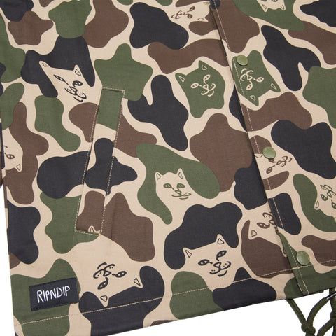 RIPNDIP - Prayer Hands Men's Twill Jacket, Army Camo