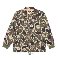 RIPNDIP - Prayer Hands Men's Twill Jacket, Army Camo - The Giant Peach