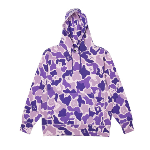 RIPNDIP - Nermal Camo Pullover Men's Hoodie, Purple