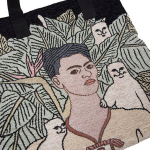 RIPNDIP - Self Portrait Tapestry Tote Bag, Black