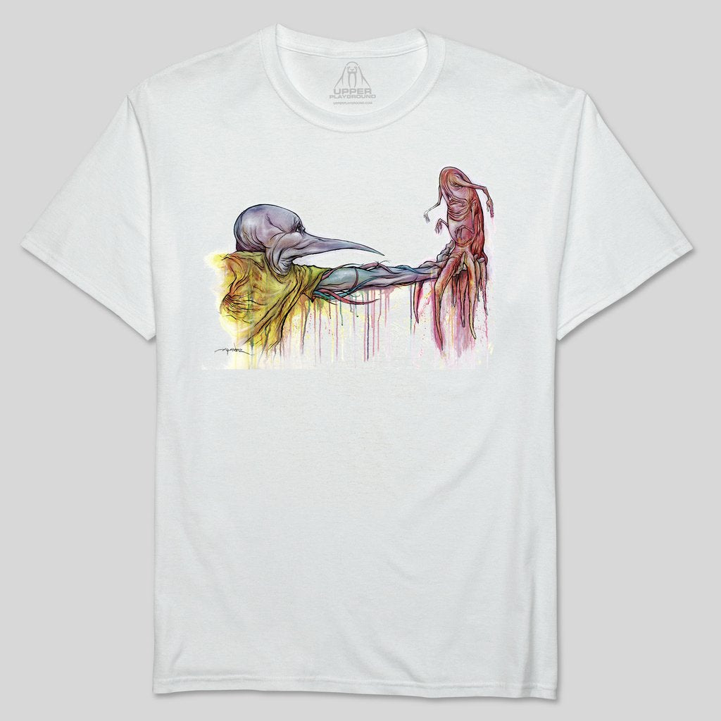 Upper Playground - Alex Pardee The Gift Men's Shirt, White