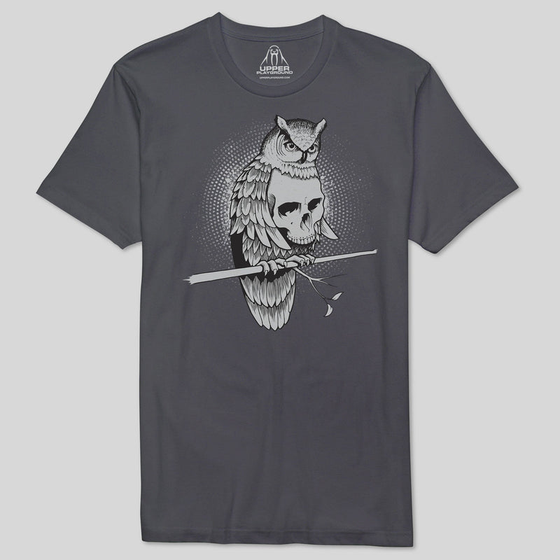 Upper Playground - Jeremy Fish Owlsome Men's Premium Tee, Charcoal