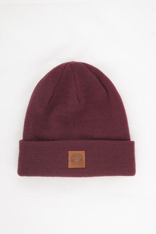 OBEY - Jobber Monogram Beanie, Burgundy - The Giant Peach - 1