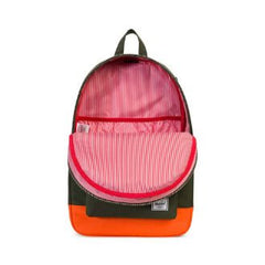 Herschel Supply Co. - Settlement Backpack, Forest Night/Vermillion Orange - The Giant Peach