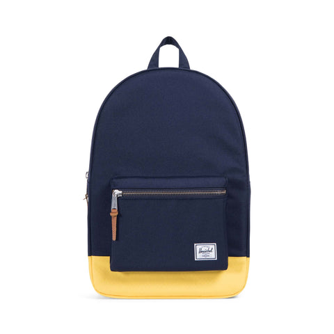 Herschel Supply Co. - Settlement Backpack, Peacoat/Cyber Yellow