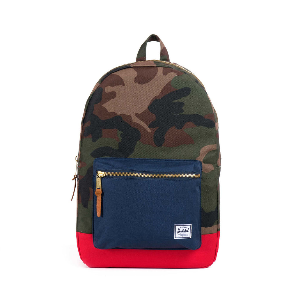 Herschel Supply Co. - Settlement Backpack, Woodland Camo/Navy/Red - The Giant Peach