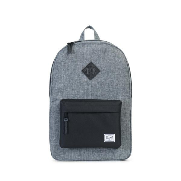Herschel Supply Co. - Heritage Backpack, Raven Crosshatch/Black - The Giant Peach - 1