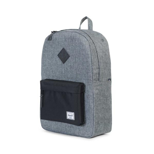 Herschel Supply Co. - Heritage Backpack, Raven Crosshatch/Black - The Giant Peach - 3