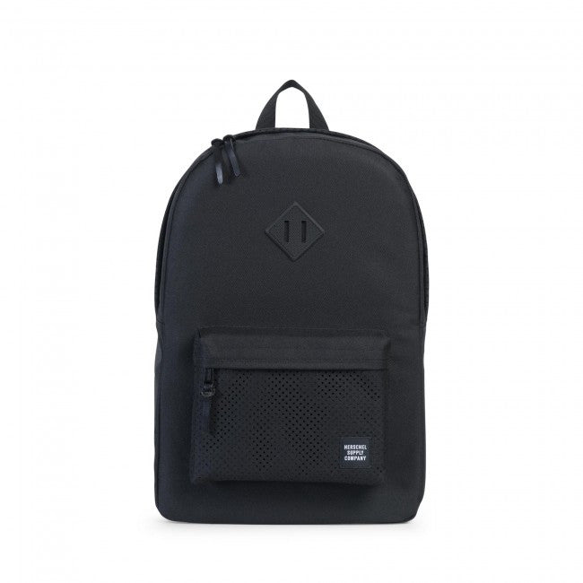Herschel Supply Co. - Heritage Backpack, Perforated Black/Black - The Giant Peach - 1