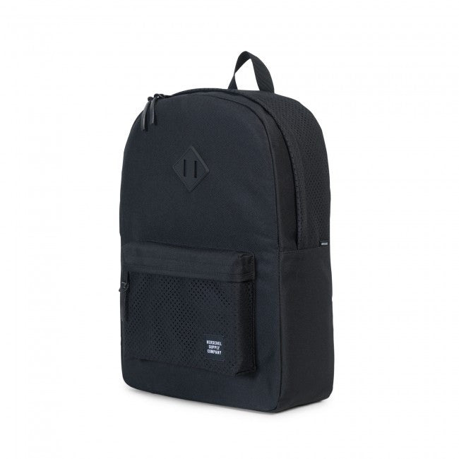 Herschel Supply Co. - Heritage Backpack, Perforated Black/Black - The Giant Peach - 3