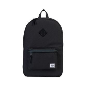 Herschel Supply Co. - Heritage Backpack, Black/Dark Shadow - The Giant Peach