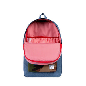 Herschel Supply Co - Heritage Backpack, Crosshatch Navy /Woodland Camo - The Giant Peach