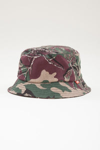 OBEY - Uplands Bucket Hat, Burgundy Camo - The Giant Peach