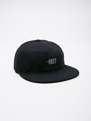 OBEY - Wilson Flexfit Men's 6 Panel Hat, Black