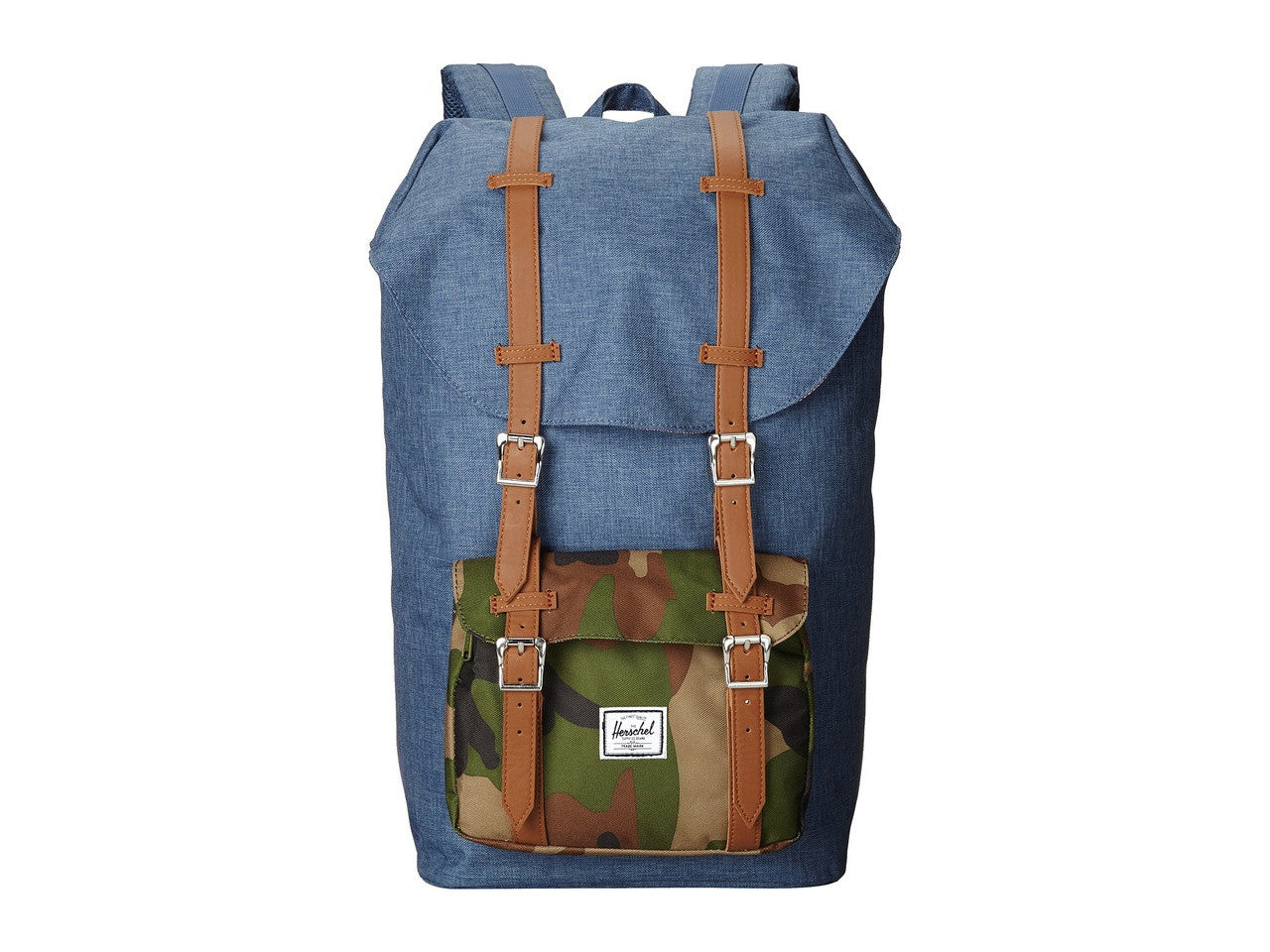 Herschel Supply Co. - Little America Backpack, Crosshatch Navy Camo - The Giant Peach
