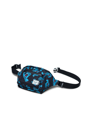 Herschel Supply Co -  Santa Cruz Seventeen Hip Pack, Black Cyan Screaming Hand