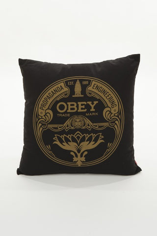 OBEY - Lotus Badge Pillow, Black